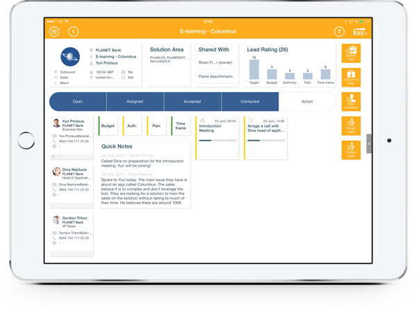 mobile crm app for ipad